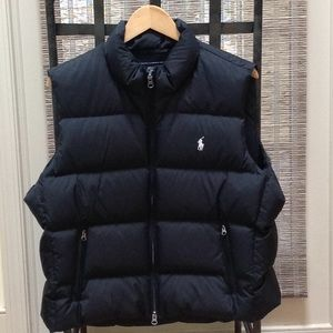 Ralph Lauren Black Puffy Vest